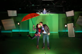 Dropping Gumballs on Luke Wilson Production Photos